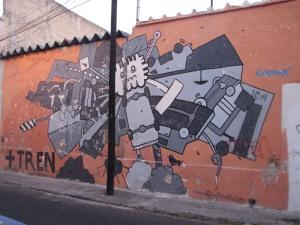 Mural en la calle Leandro Valle, esquina Pavo. Foto de Turco Viejo