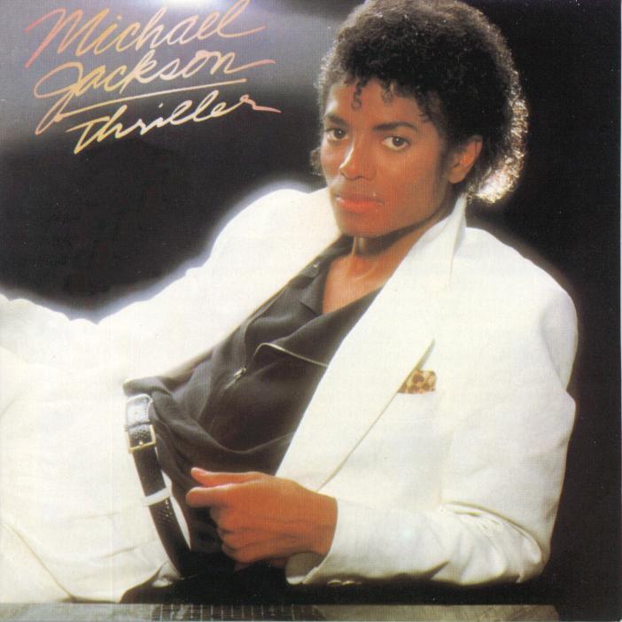 Carátula de Thriller, uno de los discos más célebres del cantante