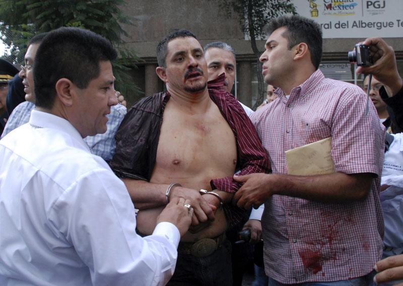 El asesino del Metro Balderas en una foto de El Economista