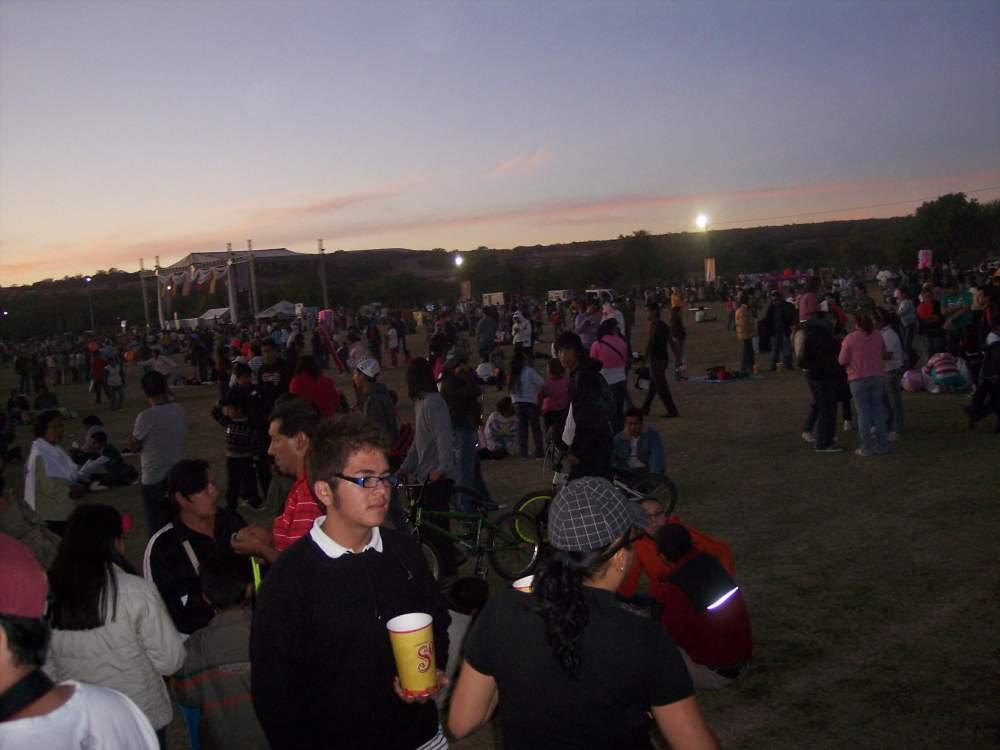 Aspecto del Parque Metropolitano de León, Guanajuato, previo a la fiesta