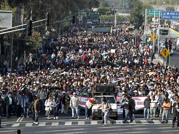 Las manifestaciones de los maestros han puesto de cabeza la ciudad de México